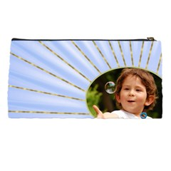 Rays Of Blue Pencil Case By Deborah   Pencil Case   04rzqbaed20a   Www Artscow Com Back