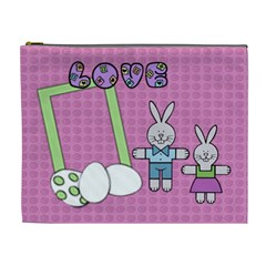 Some Rabbit Love You    Cosmetic Bag (xl)   By Carmensita   Cosmetic Bag (xl)   Raztawyht3ty   Www Artscow Com Front