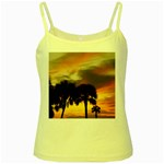 Tropical Vacation Yellow Spaghetti Tank