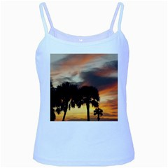 Tropical Vacation Baby Blue Spaghetti Tank from ArtsNow.com Front