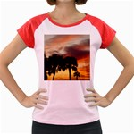 Tropical Vacation Women s Cap Sleeve T-Shirt