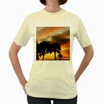 Tropical Vacation Women s Yellow T-Shirt
