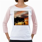 Tropical Vacation Girly Raglan