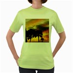 Tropical Vacation Women s Green T-Shirt