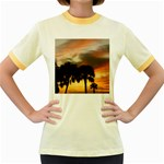 Tropical Vacation Women s Fitted Ringer T-Shirt