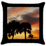 Tropical Vacation Throw Pillow Case (Black)
