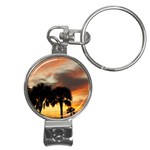 Tropical Vacation Nail Clippers Key Chain
