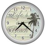 Life s a Beach Clock - Wall Clock (Silver)