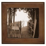 Private Pier Framed Tile