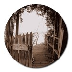 Private Pier Round Mousepad
