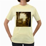Private Pier Women s Yellow T-Shirt