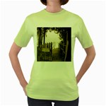 Private Pier Women s Green T-Shirt