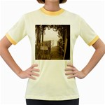 Private Pier Women s Fitted Ringer T-Shirt