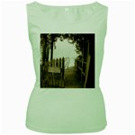 Private Pier Women s Green Tank Top