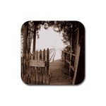 Private Pier Rubber Square Coaster (4 pack)