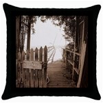 Private Pier Throw Pillow Case (Black)