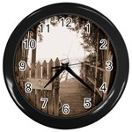 Private Pier Wall Clock (Black)
