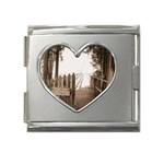 Private Pier Mega Link Heart Italian Charm (18mm)