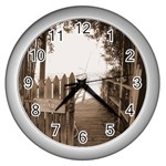 Private Pier Wall Clock (Silver)