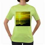 Yellow Sky Women s Green T-Shirt