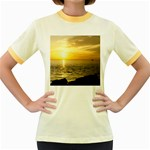 Yellow Sky Women s Fitted Ringer T-Shirt