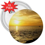 Yellow Sky 3  Button (10 pack)