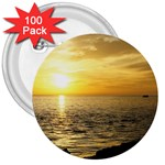 Yellow Sky 3  Button (100 pack)