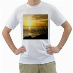 Yellow Sky White T-Shirt