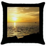 Yellow Sky Throw Pillow Case (Black)