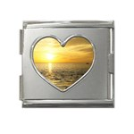 Yellow Sky Mega Link Heart Italian Charm (18mm)