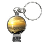 Yellow Sky Nail Clippers Key Chain