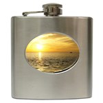 Yellow Sky Hip Flask (6 oz)