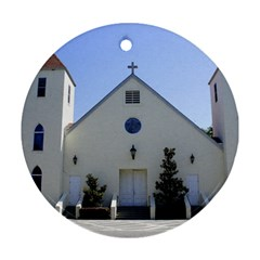 Historic Catholic Church Round Ornament (Two Sides) by lperry