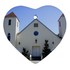 Historic Catholic Church Heart Ornament (Two Sides) by lperry