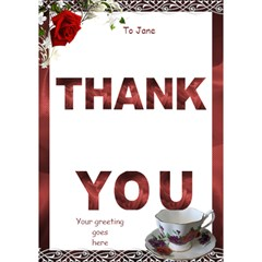 Thank You To A Lady 3d Card By Deborah   Thank You 3d Greeting Card (7x5)   9giod00rznct   Www Artscow Com Inside