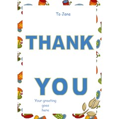 Thank You Come For Coffee 3d Card By Deborah   Thank You 3d Greeting Card (7x5)   Xkhfylh7q8my   Www Artscow Com Inside