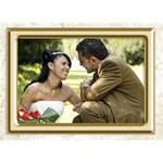 Wedding Thank you 3d card - THANK YOU 3D Greeting Card (7x5)