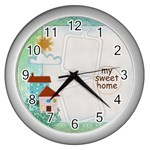 msh-cl - Wall Clock (Silver)