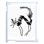 angry cat  on ipad2 - Apple iPad 2 Case (White)