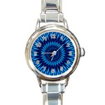 Blue Lagoon Round Italian Charm Watch