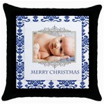 happy christmas - Throw Pillow Case (Black)