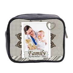 Family By Joely   Mini Toiletries Bag (two Sides)   V7sc16ac7lbw   Www Artscow Com Back