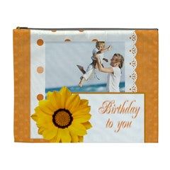 Happy Birthday By Joely   Cosmetic Bag (xl)   Pbqnvjsi4yum   Www Artscow Com Front
