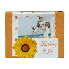 Happy Birthday By Joely   Cosmetic Bag (xl)   Pbqnvjsi4yum   Www Artscow Com Back
