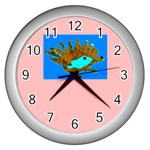 hedgehog clock - Wall Clock (Silver)