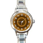Golden Lagoon Round Italian Charm Watch