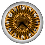 Golden Lagoon Wall Clock (Silver)