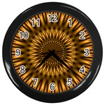 Golden Lagoon Wall Clock (Black)