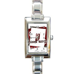 True Love - Rectangular Italian Charm Photo Watch by xstremedesigns