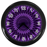 Lilac Lagoon Wall Clock (Black)